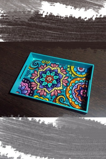 Blue Alpona Design Tray