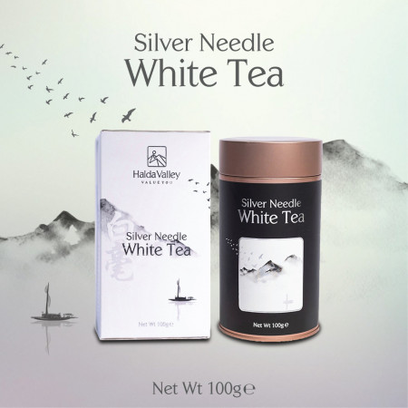Silver Needle White Tea-100 gm (Tin Jar with Paper Pack)