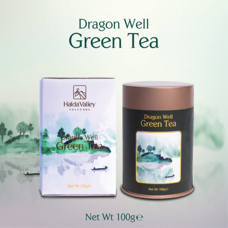 Dragon Well Green Tea-100 gm (Tin Jar with Paper Pack)