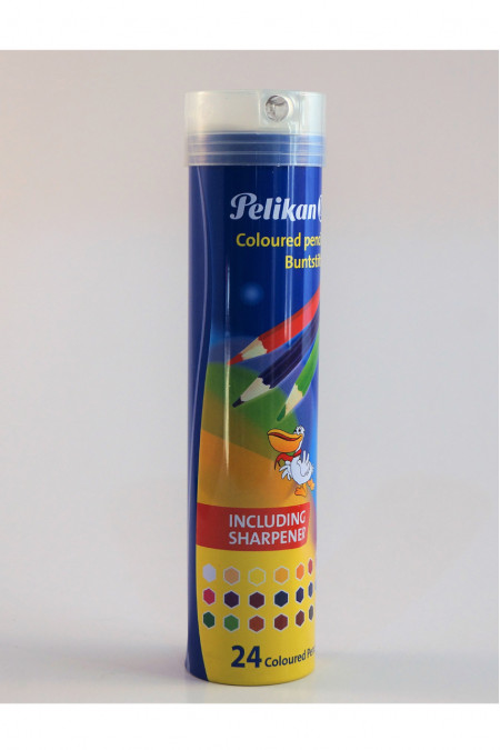 Pelikan Coloured Pencils Cylinder with Sharpener 24 Colours