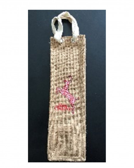 Wine cover Jute/Cotton blended yarn