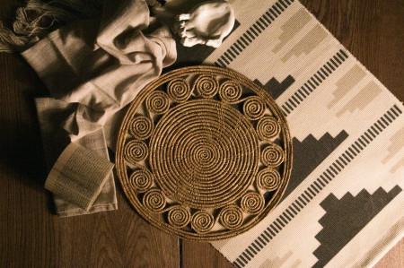 Handmade palm fiber placemat SS design