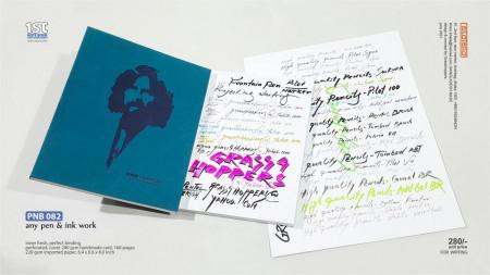 Ink pen notebook
